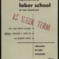 California Labor School 1946 spring term catalog
