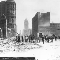 1906 San Francisco Earthquake - Down Market from Mason