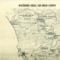 Watershed areas, San Diego County