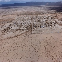 Slab City: aerial photograph of Slab City