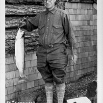 9 1/4 lb Steelhead caught in June Lake August 1, 1928 by ...