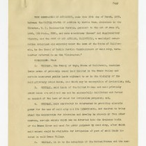 Agreement of March 29, 1920