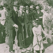 Actress Thelma Todd? at a ground-breaking in Pacific Palisades, Calif