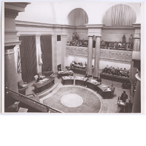 City council chambers in Oakland City Hall, 1958