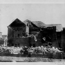 Damaged Carnegie Library, 4th Street view