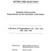Analysis of Successful Propositions on the November 1990 Ballot- A Review of ...