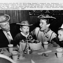 Bing Crosby and family at Frontier Village