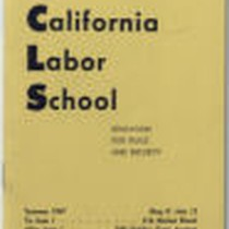 California Labor School 1947 summer term catalog