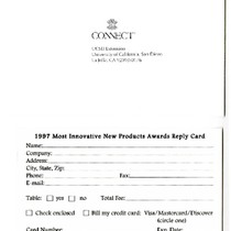 1997 Most Innovative New Products Awards: reply card