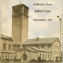 Broadway Church of Christ Membership Directory cover, 1955