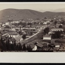 """B 2756 Los Angeles, looking N.E. from Prospect Hill"", photographs, circa 1882"