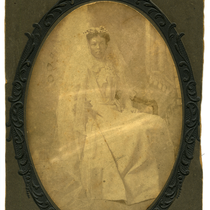 Bridal portrait of Eula De Shields