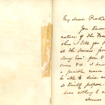 Correspondence to Pickersgill Esquire RA from D. Maclise