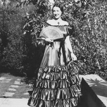 Minerva Club member Ethel May Dorsey in period gown
