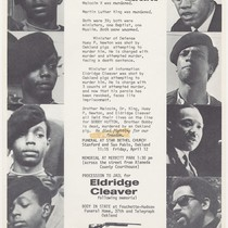 Bobby Hutton Murdered, flier