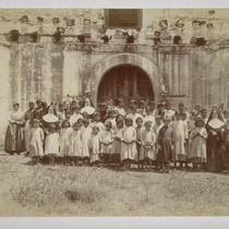 Group of Indians and Teachers, Mission San Diego