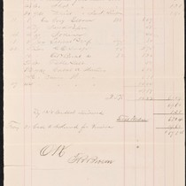 Supply invoice from Apollo Consolidated Mining Company