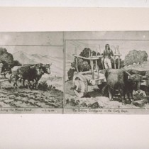 Copy of pen sketches of Mexican plow and cart. Taken at Santa ...