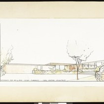 Architectural sketch of a Residence for Mr. & Mrs. Oscar Cummins