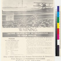 Warning: Eating Grapes May Be Hazardous to Your Health, flier