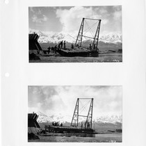 Dredge No. 2, during construction, Los Angeles Aqueduct in Owens Valley