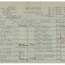 WPA bock face card for household census (block 2169) in Los Angeles ...