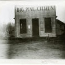 Big Pine, California. Office of the Big Pine Citizen