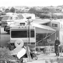 Slab City: photograph of campground and trailers