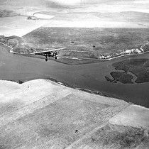 Aerial view of Newport Bay, California: Photograph