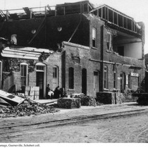 Damaged buildings in Guerneville after the 1906 earthquake