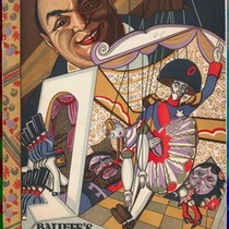 Cabaret program cover for Balieff's Chauve-Souris of Moscow, ca.1923
