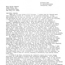 Ping: Correspondence: Letter from Roger Reynolds to Judith Schmidt