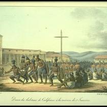 Danse des Californiens [at San Francisco, from a drawing ca. 1815]