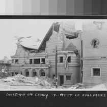 1906. Building on Geary St. west of Fillmore St. [Temple Beth Israel, ...