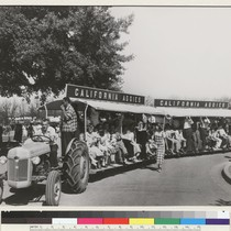 Davis campus. A 1947 photo shows elephant trains used for Picnic Day ...