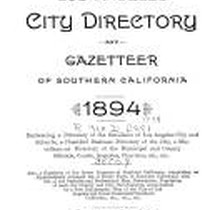 Los Angeles City Directory, 1894
