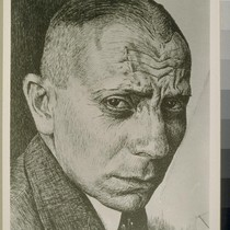 Erich von Stroheim. Drawing by Jean Hersholt. [Photographic reproduction. Original drawing dated ...