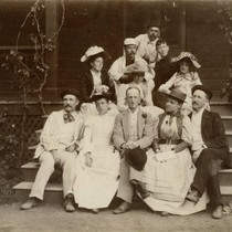 Group of visitors at the Blithedale Hotel, Mill Valley, 1890 [photograph]