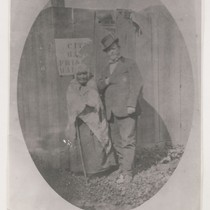 [Unidentified woman and Mariano Guadalupe Vallejo]