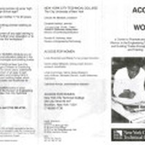 Access for Women brochure
