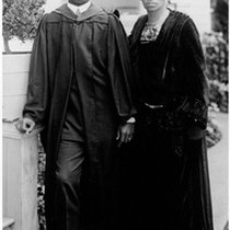 Bert McDonald and mother Mrs. Watson McDonald at University of Southern California ...