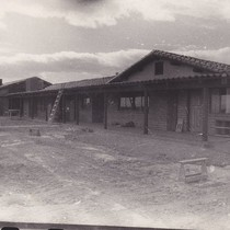 Construction of Agbayani Village, courtyard
