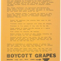 Boycott for democracy ... boycott grapes unless you see this label
