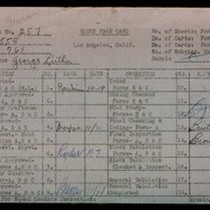 WPA block face card for household census (block 761) in Los Angeles