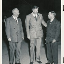 Governor Earl Warren, UCLA Medical School Dean Stafford L. Warren, and UC ...