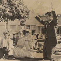 Ted Kennedy campaigning for his brother JFK