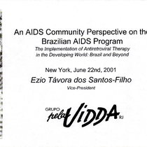 An AIDS Community Perspective on the Brazilian AIDS Program: The Implementation of ...