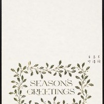 Christmas card from Eileen Chang to C.T. Hsia, ca. 1981