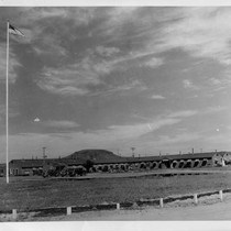 Administration building at Tule Lake Relocation Center