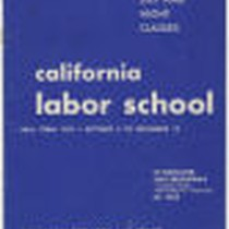 California Labor School (Oakland) 1945 fall term catalog